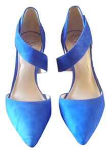 Vince Camuto Suede Bright Blue Pumps