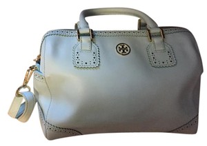 Tory Burch Top Handle Robinson Satchel in Mint Blue