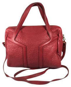 Saint Laurent Ysl Yves Satchel in Red