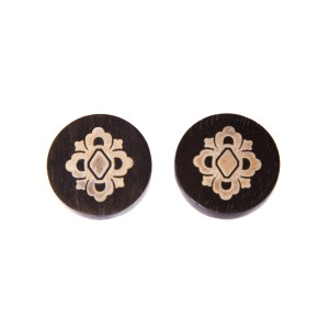 BUCCELLATI Buccellati Silver Wood Stud Earrings