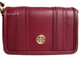 Tory Burch Pebbled Leather Landon Mini Cross Body Bag