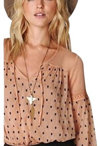 Free People Top Pink/Nude