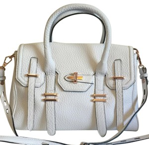 Rebecca Minkoff Satchel in White with ROSE GOLD