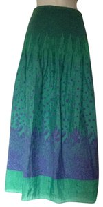Lapis Maxi Skirt Green/Blue