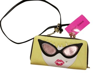 Betsey Johnson Wallet Character Faux Leather Cross Body Bag