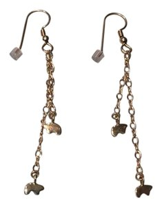 Golden Bear Double Chain Earrings