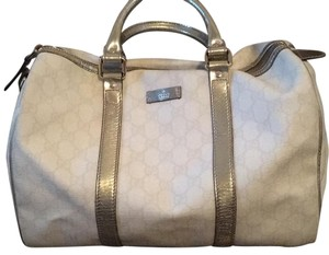 Gucci Tote in White, Metallic