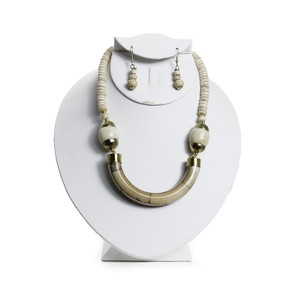Boutique 9 Antique Bone Necklace & Earring Set