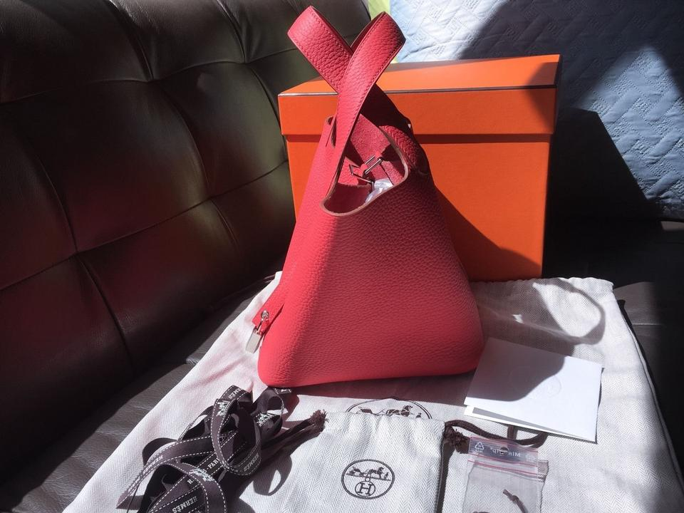 Pm Clemence Rose 18 Hermès Jaipur Tote Picotin Leather wXxf8X5tEq