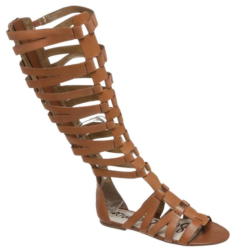 f39a1d141d02 Sam Edelman Beige Fast Free Shipping Bryant Womens Leather Gladiator ...
