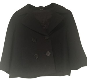 Theory Crop Top Peacoat Wool Classic Chic Black Jacket