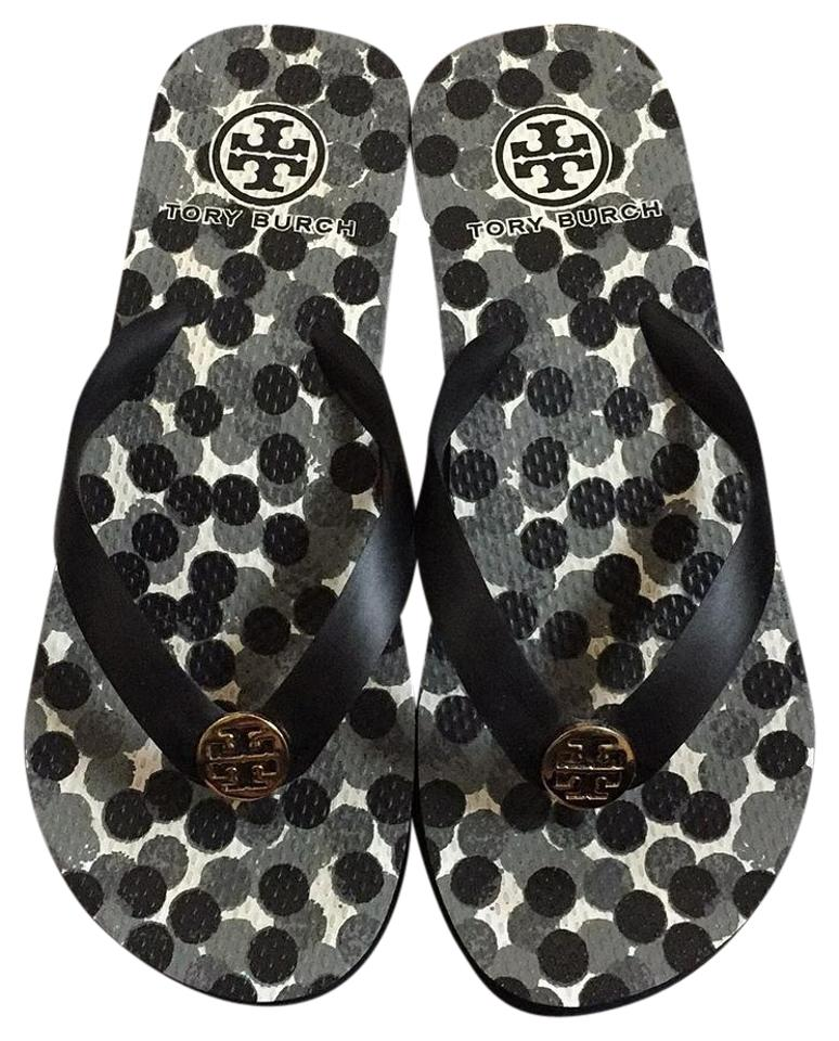 bce323efa Tory Burch Black Wedge Flip Flop Sandals Size US 6 Regular (M