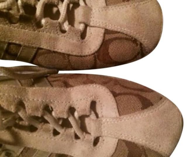 Item - White Suede and Tan Khaki Sneakers Size US 8.5 Regular (M, B)