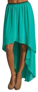 MM Couture Miss Me High Low Maxi Skirt Green