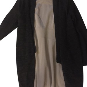 Eileen Fisher charcoal novelty sweater med-large black shrug knit Sweater