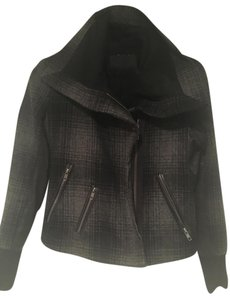 A.L.C. Chic Leather Wool Gray Leather Jacket