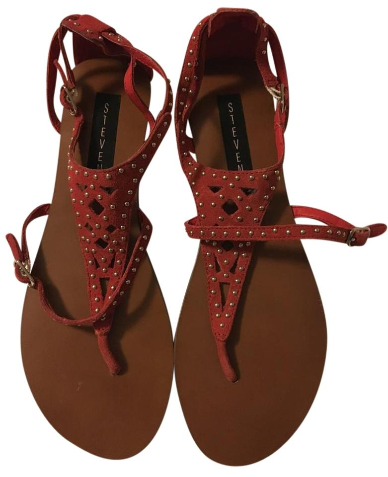 e8feb94baf1 Steven by Steve Madden Red Corine Sandals Size US 9 Regular (M