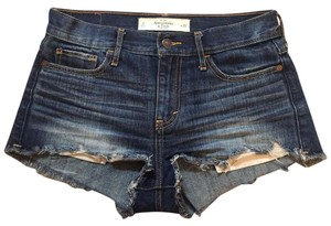 Abercrombie & Fitch Jean Denim Shorts-Distressed