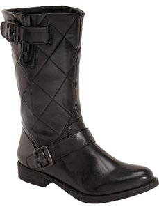 Steve Madden Kearste Quilted Bootie Zipper BLACK Boots