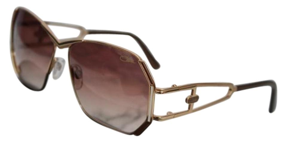 1d0e144d4c5 Cazal Brown New Mod 225 Gold Wired Vintage Sunglasses - Tradesy