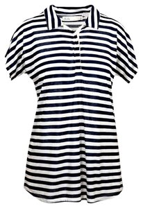 Madewell Top Withe/Blue