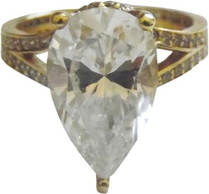 Victoria Wieck RARE Victoria Wieck 14K Yellow Gold Absolute Diamond Ring Size 8