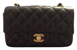 Chanel Mini Flap Ghw Lambskin Cross Body Bag