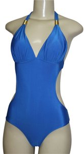 Other Ace Fashion Antique 1pc Monokini Swimsuit (S) Gold Detail ROYAL BLUE