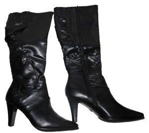 Croft & Barrow Faux Leather Knee High Black Boots