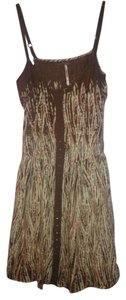 Free People short dress Brown (with cream and red pattern) Summer on Tradesy