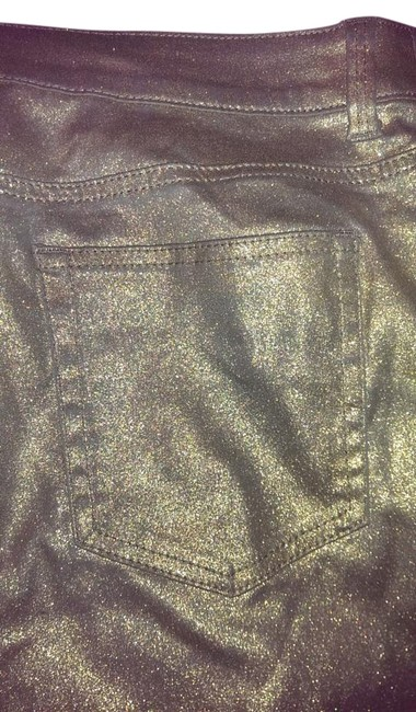 Item - Metallic Gold Coated Chico Platinum Collection Straight Leg Jeans Size 36 (14, L)