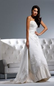 Faviana For David Tutera Anne B143 Ivory/champagne With Crystals Wedding Dress