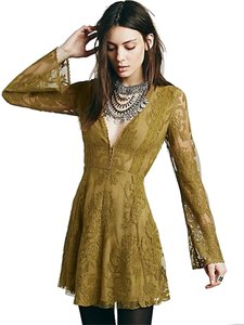 Free People short dress olive green on Tradesy