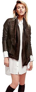 Free People brown Leather Jacket