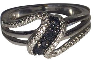 Kay jewlers Diamond ring with black diamond accent