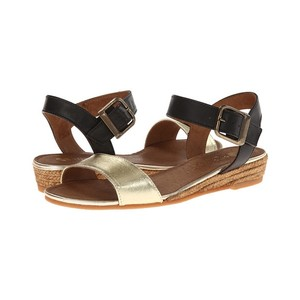 Eric Michael Black/Gold Sandals