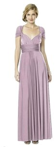 Dessy Bridesmaid Wrap Blush Dress