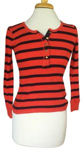 J.Crew T Shirt Red-orange & navy