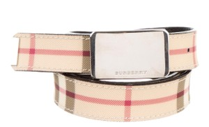 Burberry Beige, Multicolor Burberry Nova Check Canvas Waist Belt XS