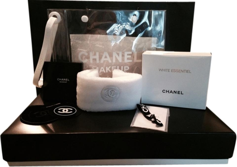 8d3d974a6659 Chanel Clear/ White/ Black Beauty Bundle Cosmetic Bag - Tradesy
