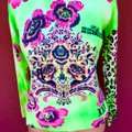 Custo Barcelona Italian Copyright Design Beaded Sequin Flowers Sweater Image 7