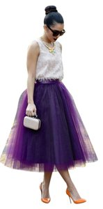 Boutique 9 Tulle Tulle Plus Size Skirt Purple