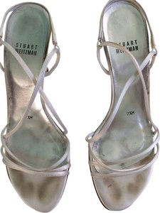 Stuart Weitzman White Satin Formal