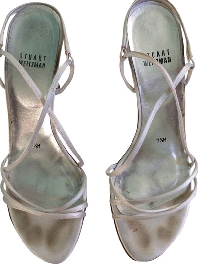 Stuart Weitzman White Satin Formal Image 0
