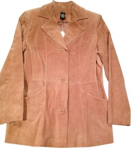 Dialogue Suede Lined Blazer Size Xs Tan, Beige Jacket