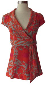 Nanette Lepore Top Orange/Gray