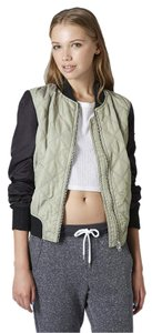 Topshop Bomber Quilted Motorcycle Jacket