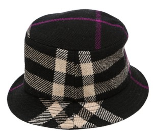 Burberry Burberry Black and Cream Multicolor Wool Bucket Hat (Size M)