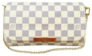 Louis Vuitton Damier Azur Lv Canvas Pm Satchel in White