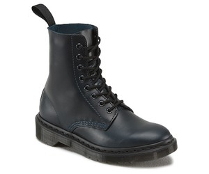 Dr. Martens Combat Pascal Leather Navy Brando / Black Boots